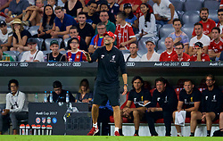 MUNICH, GERMANY - Tuesday, August 1, 2017: Liverpool's manager Jürgen Klopp during the Audi Cup 2017 match between FC Bayern Munich and Liverpool FC at the Allianz Arena. (Pic by David Rawcliffe/Propaganda)