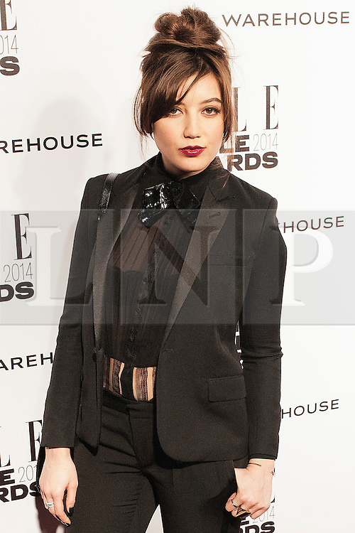 © Licensed to London News Pictures. 18/02/2014. London, UK. Daisy Lowe attends the ELLE Style Awards 2014 at One Embankment in central London. Photo credit : Andrea Baldo/LNP