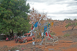 Locals display an innovative use of materials in decorating a Christmas tree.