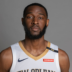 Sep 24, 2018; New Orleans, LA, USA; New Orleans Pelicans guard Ian Clark (2) poses for a portrait during Media Day at Ochsner Performance Center. Mandatory Credit: Derick E. Hingle-USA TODAY Sports