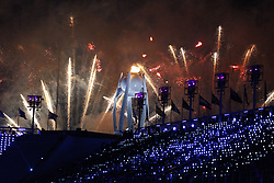 February 25, 2018 - Pyeongchang, KOREA - Closing ceremony for the Pyeongchang 2018 Olympic Winter Games at Pyeongchang Olympic Stadium. (Credit Image: © David McIntyre via ZUMA Wire)