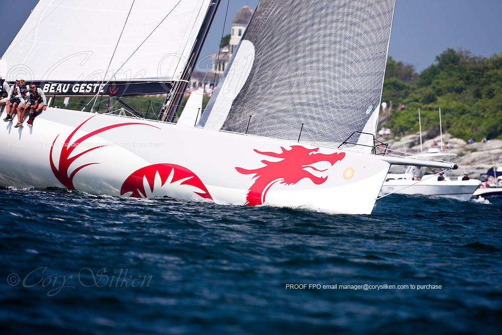 Beau Geste, class 10, sailing at the start of the Newport Bermuda Race 2010. The race began in Newport, Rhode Island on June 18, 2010.