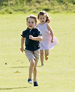 Prince George Plays With Gun & Princess Charlotte