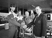 1989 - Irish Squash Team Return From Singapore.  (T8)