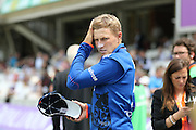 Joe Root during the Royal London One Day International match between England and New Zealand at the Oval, London, United Kingdom on 12 June 2015. Photo by Phil Duncan.