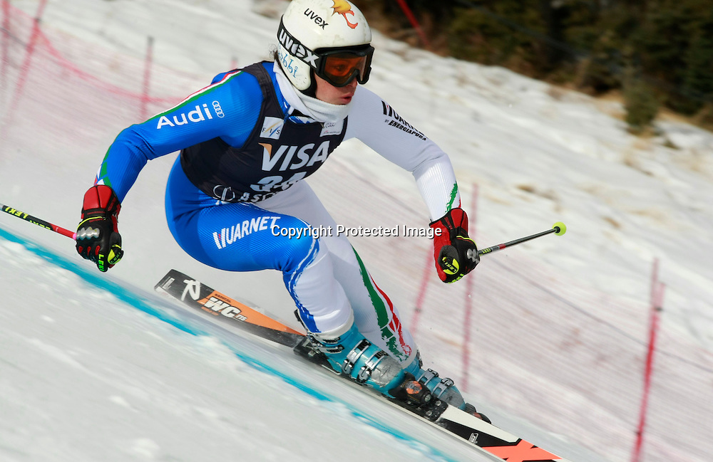 Federica Brignone,Italia in azione nello slalom gigante,  Aspen, Colorado, Venerdi 27 Novembre, 2009. (Pentaphoto/Alessandro Trovati)