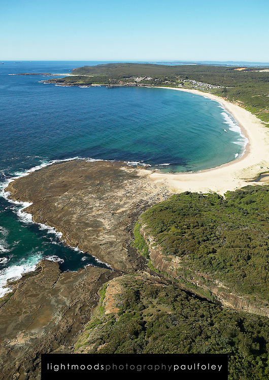 Aerial view of Catherine Hill Bay, Australia