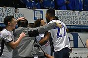 Bury Forward, Nicky Maynard (36) scores the winner goal celebration 4-3  during the EFL Sky Bet League 2 match between Bury and Milton Keynes Dons at the JD Stadium, Bury, England on 12 January 2019.