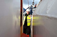112112/6 Sea People Project - Martin Cox, Engineer Superintendent, Union Transport Group plc photographed onboard Union Pluto at Whitstable Harbour