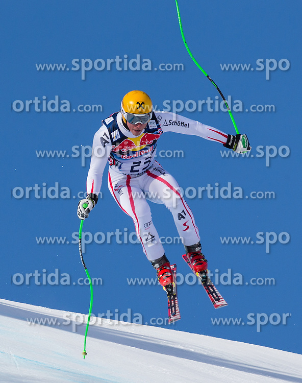 24.01.2013, Streif, Kitzbuehel, AUT, FIS Weltcup Ski Alpin, Abfahrt, Herren, 3. Training, im Bild Max Franz (AUT) // Max Franz of Austria in action during 3th practice of mens Downhill of the FIS Ski Alpine World Cup at the Streif course, Kitzbuehel, Austria on 2013/01/24. EXPA Pictures © 2013, PhotoCredit: EXPA/ Johann Groder