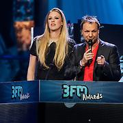 NLD/Amsterdam/20130418- Uitreiking 3FM Awards 2013, Annemieke Schollaardt en Rob Stenders