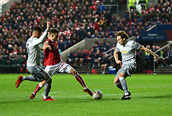 Jamie Paterson of Bristol City takes the ball forward - Mandatory by-line: Dougie Allward/JMP - 20/12/2017 - FOOTBALL - Ashton Gate Stadium - Bristol, England - Bristol City v Manchester United - Carabao Cup Quarter Final