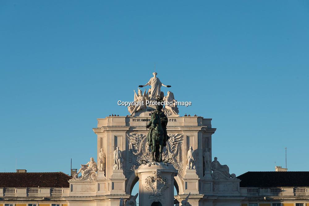 Portugal. Praca do commercio. triumph arch
