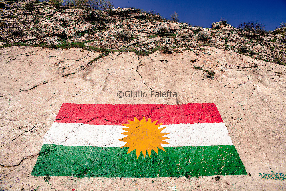A Kurdistan flag