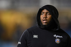 Beno Obano of Bath Rugby looks on during the pre-match warm-up - Mandatory byline: Patrick Khachfe/JMP - 07966 386802 - 29/11/2019 - RUGBY UNION - The Recreation Ground - Bath, England - Bath Rugby v Saracens - Gallagher Premiership