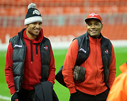 LIVERPOOL, ENGLAND - Wednesday, January 20, 2016: Exeter City's Clinton Morrison arrives before the FA Cup 3rd Round Replay match against Liverpool at Anfield. (Pic by David Rawcliffe/Propaganda)