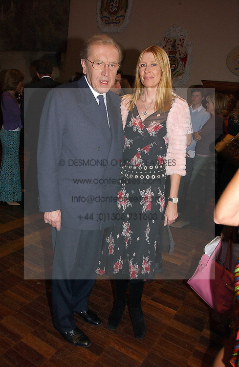SIR DAVID &amp; LADY CARINA FROST at a party to celebrate the publication of Wicked - A Tale of Two Schools by Jilly Cooper held at Westminster School, Dean's Yard, London on 11th May 2006.<br /><br />NON EXCLUSIVE - WORLD RIGHTS