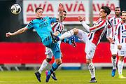 TILBURG - 19-02-2017, Willem II - AZ, Koning Willem II Stadion, AZ speler Wout Weghorst, Willem II speler Thom Haye