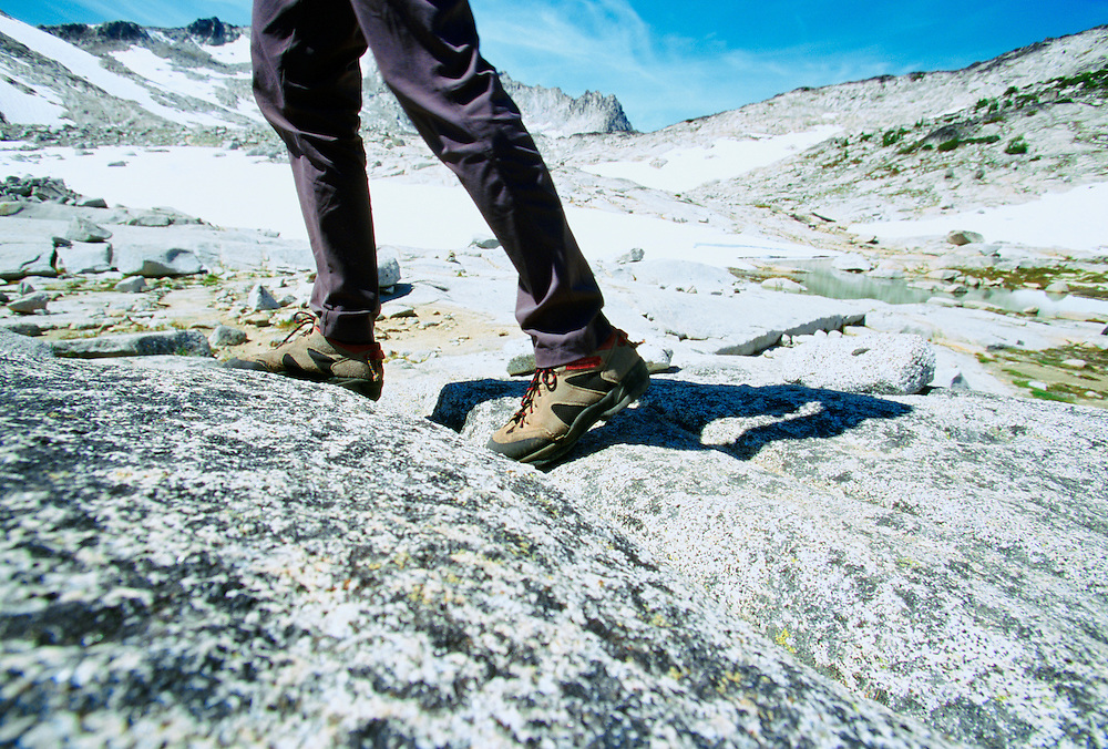 Legs of man hiking in the Cascade Mountains Washington USA&amp;#xA;&amp;#xA;<br />