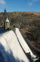 Caban Coch dam, in the Welsh Elan Valley