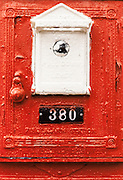 old red fire alarm box