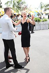 AU_1391515 - Melbourne, AUSTRALIA  -  AAMI Victoria Derby Day celebrities and VIPs in the Birdcage.<br /> <br /> Pictured: Kate Peck<br /> <br /> BACKGRID Australia 3 NOVEMBER 2018 <br /> <br /> BYLINE MUST READ: Richard Milnes / BACKGRID<br /> <br /> Phone: + 61 2 8719 0598<br /> Email:  photos@backgrid.com.au