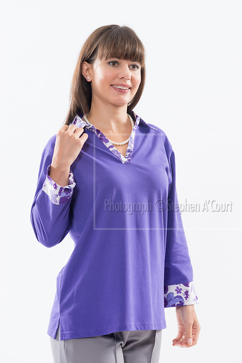 Mock Layered Top Purple. Photo credit: Stephen A'Court.  COPYRIGHT ©Stephen A'Court