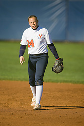 Virginia second baseman Kierstie Cameron (24).  The Virginia Cavaliers softball team fell to the Georgetown Hoyas 4-0 at the University of Virginia's The Park in Charlottesville, VA on March 20, 2008.