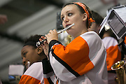 The RIT Pep Band plays during an exhibition game against Pursuit of Excellence, a junior team from British Columbia, at RIT's Gene Polisseni Center on Monday, September 29, 2014.