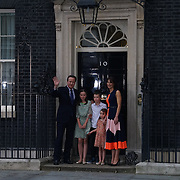 London,England,UK, 13th July 2016 : David Cameron announce his resignation with his family at No 10 Downing Street, London, UK. Photo by See Li