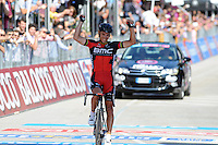 Victoire de Philippe Gilbert - Bmc - 28.05.2015 - Tour d'Italie - Etape 18 : Melide / Verbania <br />