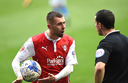 Rotherham United's Jack Hunt remonstrates with referee Dean Whitestone - Photo mandatory by-line: Paul Knight/JMP - Mobile: 07966 386802 - 03/04/2015 - SPORT - Football - Birmingham - St Andrew's Stadium - Birmingham City v Rotherham United - Sky Bet Championship