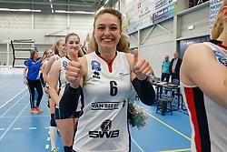 20190424 NED: Sliedrecht Sport - VC Sneek: Sliedrecht<br /> Sliedrecht Sport Nederlands Kampioen Volleybal Seizoen 2018 - 2019, Fleur Savelkoel (6) of Sliedrecht Sport <br /> ©2019-FotoHoogendoorn.nl / Pim Waslander