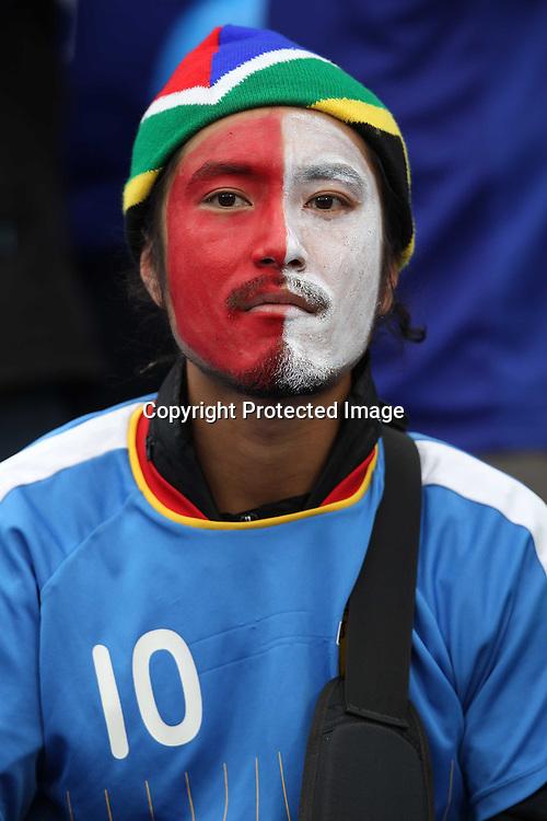 &copy;Jonathan Moscrop - LaPresse<br /> 29 06 2010 Pretoria/Tshwane ( Sud Africa )<br /> Sport Calcio<br /> Paraguay vs Giappone - Mondiali di calcio Sud Africa 2010 Ottavi di finale - Loftus Versfield Stadium<br /> Nella foto: tifosi allo stadio<br /> <br /> &copy;Jonathan Moscrop - LaPresse<br /> 29 06 2010 Pretoria/Tshwane ( South Africa )<br /> Sport Soccer<br /> Paraguay versus Japan - FIFA 2010 World Cup South Africa Round of sixteen - Loftus Versfield Stadium<br /> In the Photo: fans pictured at the stadium