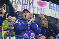 September 28, 2018 - St. Petersburg, Russia - Russian Federation. St. Petersburg. The Palace of Sports ''Ledovy''. Continental Hockey League. KHL. KHL, 2018/19 - HC SKA - HC Avangard. Player of the ice hockey club SKA (Credit Image: © Russian Look via ZUMA Wire)