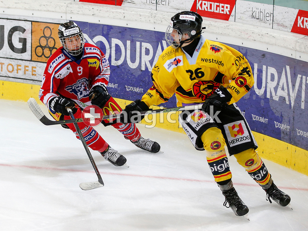 Rapperswil-Jona Lakers defenseman Lukas RUBIN (L) is pictured during a Novizen Elite ice hockey game between Rapperswil-Jona Lakers and SC Bern Future held at the Diners Club Arena in Rapperswil, Switzerland, Saturday, Feb. 6, 2016. (Photo by Patrick B. Kraemer / MAGICPBK)