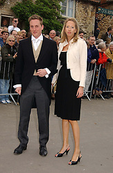 HARRY BECHER and the HON.FLORA HESKETH at the wedding of Laura Parker Bowles to Harry Lopes held at Lacock, Wiltshire on 6th May 2006.<br /><br />NON EXCLUSIVE - WORLD RIGHTS