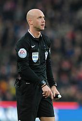 Referee, Anthony Taylor - Photo mandatory by-line: Dougie Allward/JMP - Mobile: 07966 386802 - 06/12/2014 - SPORT - Football - Stoke - Britannia Stadium - Stoke City v Arsenal - Barclays Premie League