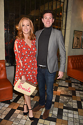 Jack Brooksbank and Sarah Jane Mee at The Ivy Chelsea Garden's Annual Summer Garden Party, The Ivy Chelsea Garden, 197 King's Road, London England. 9 May 2017.<br /> Photo by Dominic O'Neill/SilverHub 0203 174 1069 sales@silverhubmedia.com