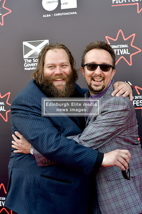 Olafur Darri Olaffssohn (Actor) and Jorg Tittel (director) on the red carpet at the 2016 Edinburgh International Film Festival, WORLD PREMIERE of The White King at Cineworld, Edinburgh18th June 2016, (c) Brian Anderson | Edinburgh Elite media