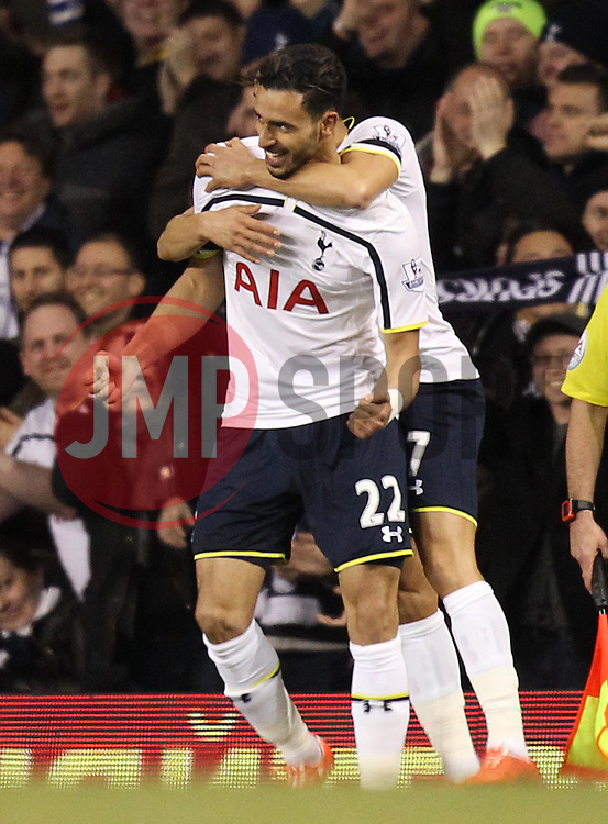 Tottenham Hotspur's Nacer Chadli celebrates - Photo mandatory by-line: Robbie Stephenson/JMP - Mobile: 07966 386802 - 04/03/2015 - SPORT - football - London - White Hart Lane - Tottenham Hotspur v Swansea City - Barclays Premier League