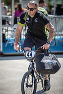 Men Elite #44 (DEAN Anthony) AUS arriving on race day at the 2018 UCI BMX World Championships in Baku, Azerbaijan.