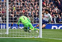 Football - 2018 / 2019 Premier League - Tottenham Hotspur vs. West Ham United<br /> <br /> West Ham United's Lukasz Fabianski denies Tottenham Hotspur's Son Heung-Min, at The Tottenham Hotspur Stadium.<br /> <br /> COLORSPORT/ASHLEY WESTERN