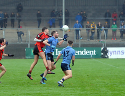 Westport&rsquo;s Shane Scott and Kenmare&rsquo;s Tommy O&rsquo;Sullivan battle for posesssion.<br />