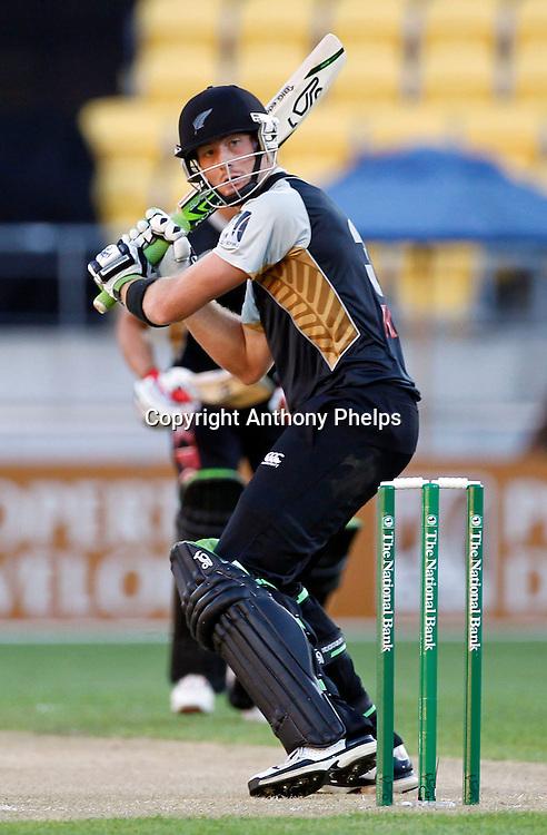 Martin Guptill New Zealand v Australia Twenty20 cricket match. Westpac Stadium, Wellington. Friday 26 February 2010. Photo: Anthony Phelps/PHOTOSPORT