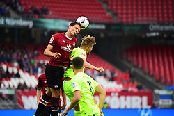 12.08.2016, Grundig Stadion, Nuernberg, GBR, 2. FBL, 1. FC Nuernberg vs 1. FC Heidenheim, 2. Runde, im Bild Georg Margreitter (1. FC Nuernberg / links) im Kopfballduell mit Marcel Titsch-Rivero (1. FC Heidenheim / rechts) // during the 2nd German Bundesliga 2nd round match between 1. FC Nuernberg and 1. FC Heidenheim at the Grundig Stadion in Nuernberg, Germany on 2016/08/12. EXPA Pictures © 2016, PhotoCredit: EXPA/ Eibner-Pressefoto/ Merz<br /> <br /> *****ATTENTION - OUT of GER*****