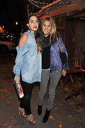 Left to right, ARIANA STEIN and GABRIELA HERSHAM at a party to celebrate the publication of Seductive Interiors by Sara Hersham Loftus at Julie's, 135 Portland Road, London W11 on 15th November 2012.