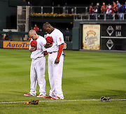 philadelphia phillies ryan howard and shane victorino in the national league playoffs against the dodgers