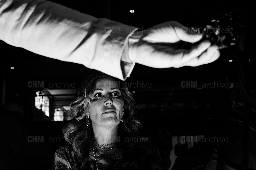 "Daniela Santanchè,  partecipa ad ""Atreju"" evento organizzato dal partito politico di destra Fratelli d'Italia. Roma 22 settembre 2017. Christian Mantuano / OneShot<br /> <br /> Daniela Santanchè at 'Atreju' event organized by Fratelli d'Italia, italian right wing party. Rome 22 september 2017. Christian Mantuano / OneShot"