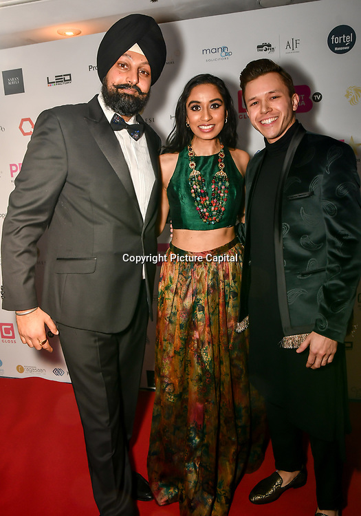 Amrit Kaur Lohia and Jassa Ahluwalia attend the BritAsiaTV Presents Kuflink Punjabi Film Awards 2019 at Grosvenor House, Park Lane, London,United Kingdom. 30 March 2019